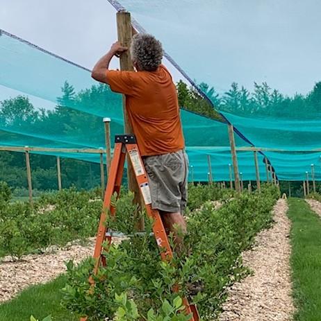 John Installing Netting
